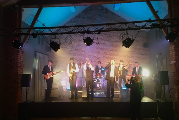 Cheshire Wedding band at Arley Hall